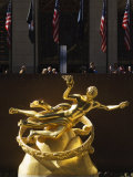 Statue of Prometheus in the Plaza of the Rockefeller Center, Manhattan, New York City, USA Photographic Print by Amanda Hall