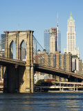 Brooklyn Bridge and Manhattan Skyline, New York City, New York, USA Photographic Print by Amanda Hall