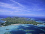 Aerial View of Yasawa Island, One of the Driest Parts of Fiji, Yasawa Group, Fiji Photographic Print by Lousie Murray