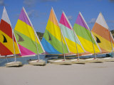Sail Boats on the Beach, St. James Club, Antigua, Caribbean, West Indies, Central America Photographic Print by J Lightfoot