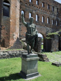 Statue of Augustus Caesar, Porta Palatina, Turin, Piemonte (Piedmont), Italy Photographic Print by Duncan Maxwell