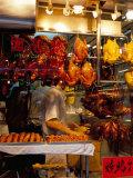 Peking Ducks Hanging in Shop Window, Hong Kong, China Photographic Print by Amanda Hall
