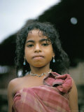 Portrait of a Hua Ulu Girl, Seram, Moluccas, Indonesia, Southeast Asia Photographic Print by Robin Hanbury-tenison