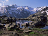 Lago (Lake) Del Loson, Gran Paradiso National Park, Near Val Nontey Valley, Valle d'Aosta, Italy Photographic Print by Duncan Maxwell