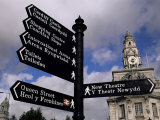 Street Sign, City of Cardiff, Glamorgan, Wales, United Kingdom Photographic Print by Duncan Maxwell