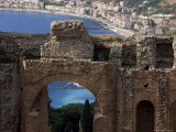 Teatro Greco, Founded in the 3rd Century Bc, Taormina, Sicily, Italy Photographic Print by Duncan Maxwell