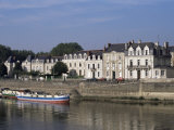 Quai Des Carmes on River Maine, Angers, Anjou, Pays De La Loire, France Photographic Print by J Lightfoot