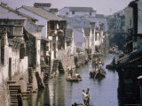 Ancient Canal in the City, Part of the Great Canal, the Longest in China, Soochow (Suzhou), China Photographic Print by Ursula Gahwiler