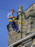 Bt Engineer Testing Lines, United Kingdom Photographic Print by Duncan Maxwell