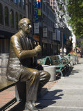 Statue in Quincy Market, Boston, Massachusetts, New England, USA Photographic Print by Amanda Hall
