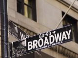 Broadway Street Sign Manhattan, New York City, New York, USA Photographic Print by Amanda Hall