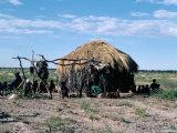 Bushmen, Kalahari, Botswana, Africa Photographic Print by Robin Hanbury-tenison