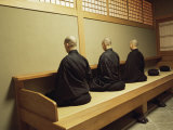 Monks During Za-Zen Meditation in the Zazen Hall, Elheiji Zen Monastery, Japan Photographic Print by Ursula Gahwiler