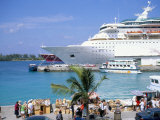 Cruise Ship, Dockside, Nassau, Bahamas, West Indies, Central America Photographic Print by J Lightfoot