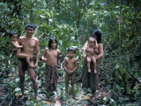 Penan Family, Mulu Expedition, Borneo, Indonesia, Southeast Asia Photographic Print by Robin Hanbury-tenison
