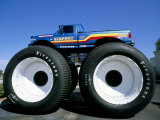Huge Tyres, Big Foot, Customised Car, USA Photographic Print by John Miller