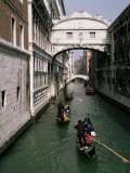 Bridge of Sighs and Gondolas, Venice, Veneto, Italy Photographic Print by Roy Rainford