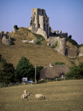 Corfe Castle, Dorset, England, United Kingdom Photographic Print by John Miller