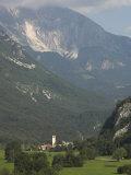 Village of Trnovo Ob Soci in Soca Valley, Triglav National Park, Julian Alps, Slovenia Photographic Print by Eitan Simanor