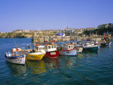 Small Boats in the Harbour, Newquay, Cornwall, England, UK Photographic Print by Roy Rainford