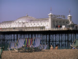 Brighton Pier (Palace Pier), Brighton, East Sussex, England, United Kingdom Photographic Print by John Miller