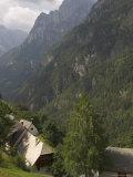 Village of Strmec, Soca Valley, Triglav National Park, Julian Alps, Slovenia Photographic Print by Eitan Simanor