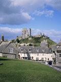 Corfe Castle, Dorset, England, United Kingdom Fotografisk tryk af Roy Rainford