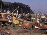 Fishing Boats on the Beach, Hastings, East Sussex, England, United Kingdom Photographic Print by John Miller