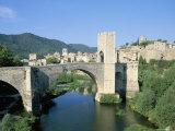 Fortified Bridge, Besalu, Catalonia (Cataluna) (Catalunya), Spain Photographic Print by John Miller