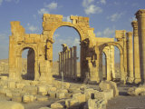 Monumental Arch, Palmyra, Unesco World Heritage Site, Syria, Middle East Photographic Print by Eitan Simanor