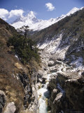 Valley in the Mountains, Everest Region, Himalayas, Nepal Photographic Print by Claire Leimbach