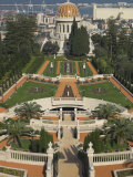 Bahai Shrine and Gardens, Haifa, Israel, Middle East Lmina fotogrfica por Eitan Simanor