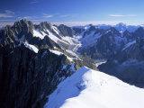 Mont Blanc Range Near Chamonix, Haute-Savoie, French Alps, France Photographic Print by Roy Rainford