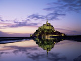 Mont Saint-Michel at Sunset, Unesco World Heritage Site, La Manche Region, Basse Normandie, France Photographic Print by Roy Rainford