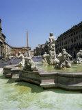 Fountains, Piazza Navona, Rome, Lazio, Italy Photographic Print by Roy Rainford