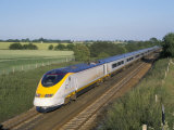 Eurostar Train Travelling Through Countryside Photographic Print by John Miller