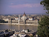 Parliament Building and the River Danube, Budapest, Hungary Photographic Print by John Miller