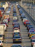 Traffic Jam on the M25 Motorway Near London, England, UK Photographic Print by John Miller