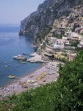 Positano, Costiera Amalfitana, Unesco World Heritage Site, Campania, Italy Fotografisk tryk af Roy Rainford