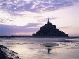 Mont Saint-Michel at Sunset, Unesco World Heritage Site, La Manche Region, Basse Normandie, France Photographic Print by Roy Rainford