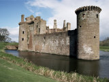 Caerlaverock Castle, Dating from the 13th Century, Dumfriesshire, Scotland, United Kingdom Photographic Print by Jennifer Fry