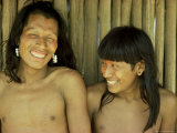 Xingu Men, Brazil, South America Photographic Print by Claire Leimbach