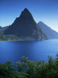 The Pitons, St. Lucia, Windward Islands, West Indies, Caribbean, Central America Photographic Print by John Miller