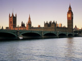 Westminster Bridge and the Houses of Parliament, Westminster, London, England Photographic Print by John Miller
