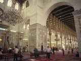 Interior of the Omayad (Umayyad) Mosque, Damascus, Syria, Middle East Photographic Print by Eitan Simanor