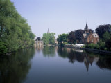 Minnewater, Lake of Love, Bruges, Belgium Photographic Print by Roy Rainford