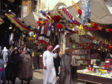 Book Stall, Souq Hamadyeh (Market), Old City, Damascus, Syria, Middle East Photographic Print by Eitan Simanor