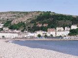 Beach and Great Orme, Llandudno, Conwy, Wales, United Kingdom Fotografisk tryk af Roy Rainford