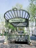 Abbesses Metro Station, Paris, France Fotografisk tryk af Roy Rainford