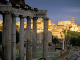 View Across Roman Forum Towards Colosseum and St. Francesca Romana, Rome, Lazio, Italy Photographic Print by John Miller